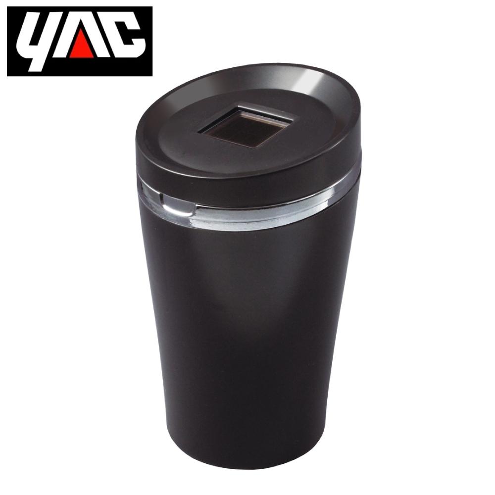 YAC 寬口徑太陽能LED煙灰缸-沉穩黑 (PZ-626)