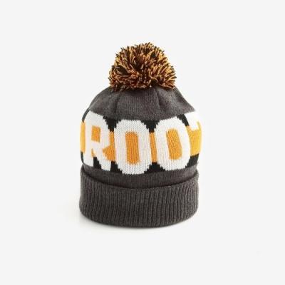 ROOTS配件- 周年紀念毛球針織帽-灰色