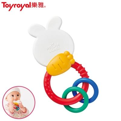 【任選】日本《樂雅 Toyroyal》沛醬兔固齒器握環搖鈴