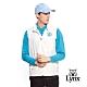 【Lynx Golf】男款小山貓繡花胸袋隱形拉鍊薄無袖背心-牙白色 product thumbnail 2