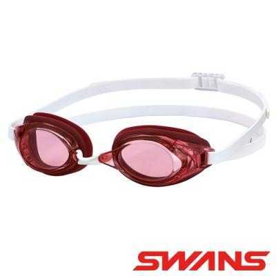 【SWANS 日本】光學通用型泳鏡(防霧/抗UV/矽膠/SR-2N粉紅)