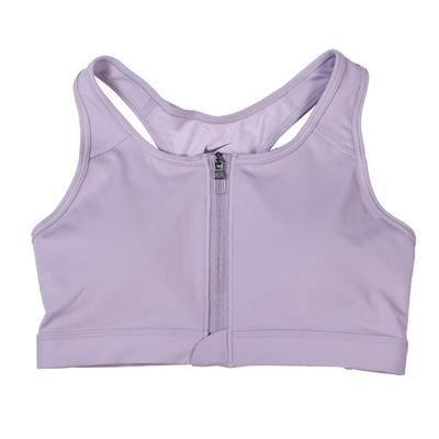 Nike 運動內衣 Swoosh Zip-Front Bra 女款 中強度 Dri-FIT 吸濕排汗 拉鍊 紫 DD1206-529