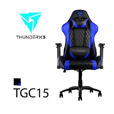 【ThunderX3】TGC15 競速超跑電競賽車椅(黑藍色)