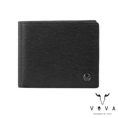 VOVA - 大藝術家系列9卡中間翻皮夾 - 魔幻黑