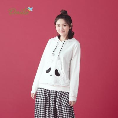新降【Dailo】慵懶熊連帽長袖-上衣(三色)