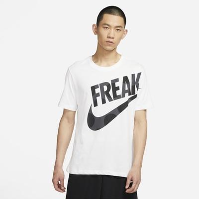 Nike DF FREAK PRINT SS TEE 大LOGO 男短袖上衣-白-DJ1565100