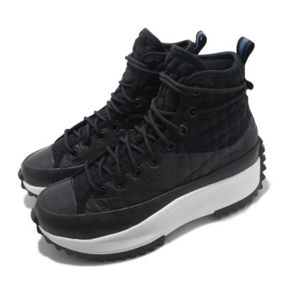 Converse 休閒鞋 Run Star Hike Hi 女鞋 厚底 舒適 增高 球鞋 穿搭 時尚 黑 白 170246C