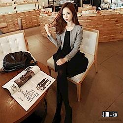 Jilli-ko 兩件式西裝外套連身裙-灰