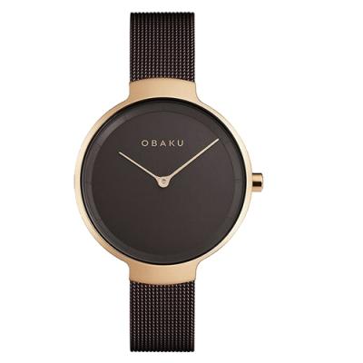 OBAKU 簡約百搭時尚腕錶-棕(V231LXVNMN)/32mm