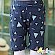 Azio Kids  短褲 彩色幾何圖形鬆緊短褲(藍) product thumbnail 1