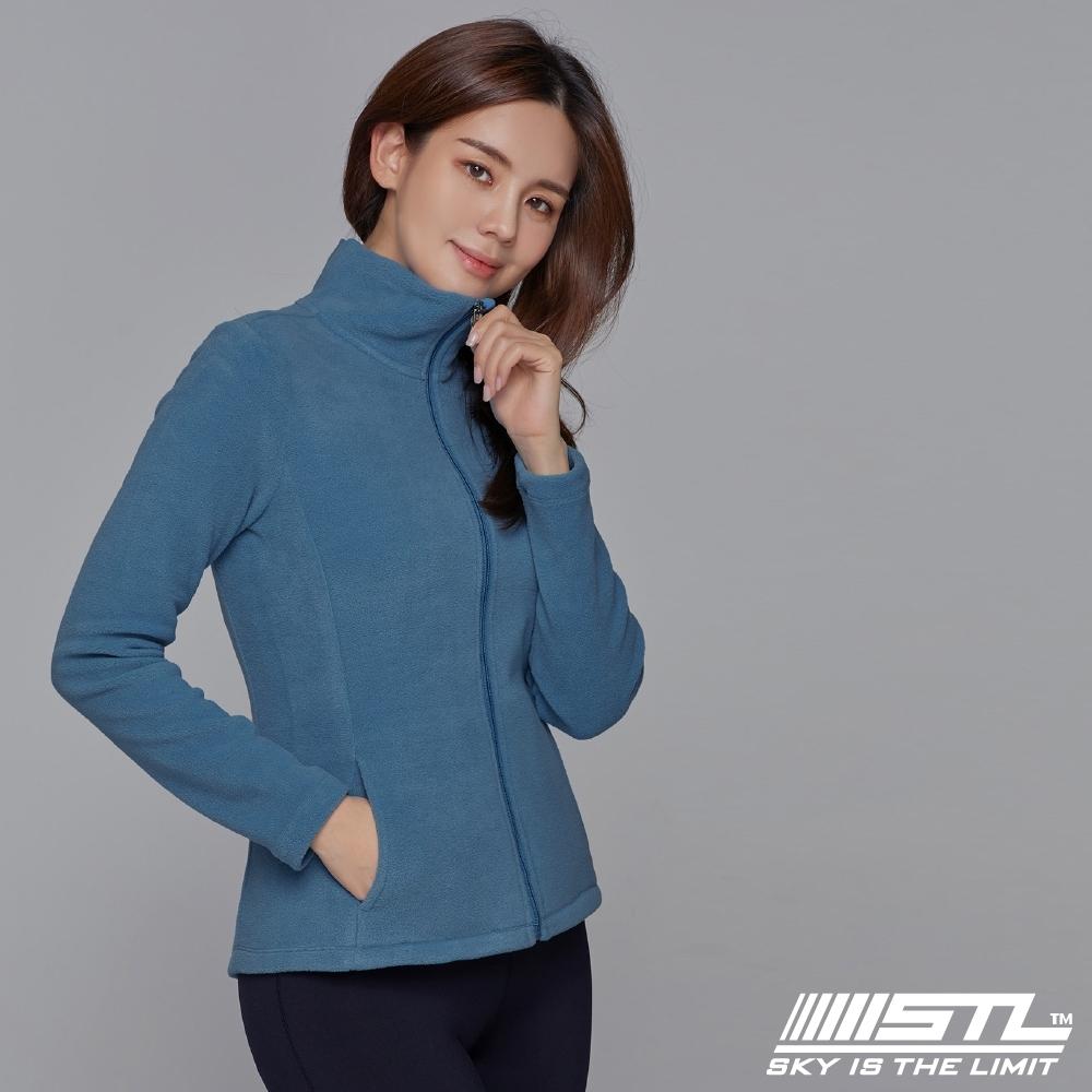 STL yoga FleeceMonoJacket 韓國運動機能 羔羊毛合身 發熱保暖 拉鍊立領外套 印地藍BlueIndigo