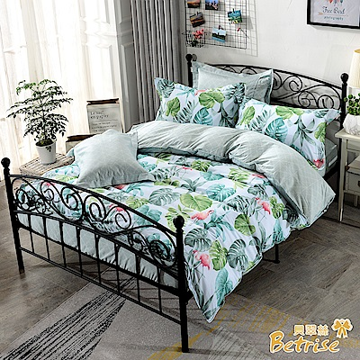 Betrise烈鳥叢林 單人-環保印染100%精梳純棉防蹣抗菌三件式兩用被床包組