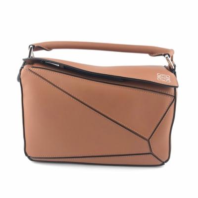 LOEWE Small Puzzle 小款 幾何拼接包 肩背包 手提包 拼圖包 Tan 棕褐色