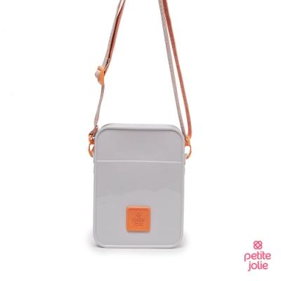 Petite Jolie--字體塗鴉背帶果凍相機包-白/橘