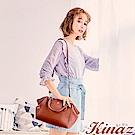 KINAZ 淑女派對兩用斜背波士頓包-香橙橘-森林午茶系列