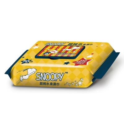 SNOOPY 史努比超純水加蓋濕紙巾 70抽X12包 /組
