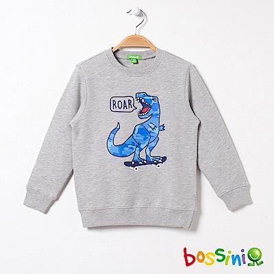 bossini男童-印花厚棉運動衫08淺灰