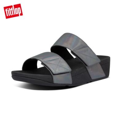 FitFlop MINA IRIDESCENT SLIDES 寬帶涼鞋-女(靚黑色)