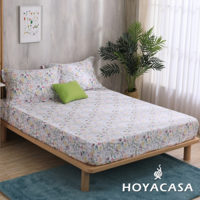 HOYACASA綺麗世界 單人親膚極潤天絲床包枕套三件組