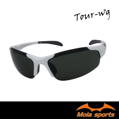 MOLA摩拉兒童運動太陽眼鏡墨鏡8-12歲 白色 男女 防紫外線 UV400 Tour-wg