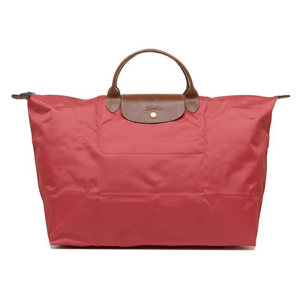 LONGCHAMP Le Pliage系列經典摺疊款式短提把旅行袋(大) 無花果色