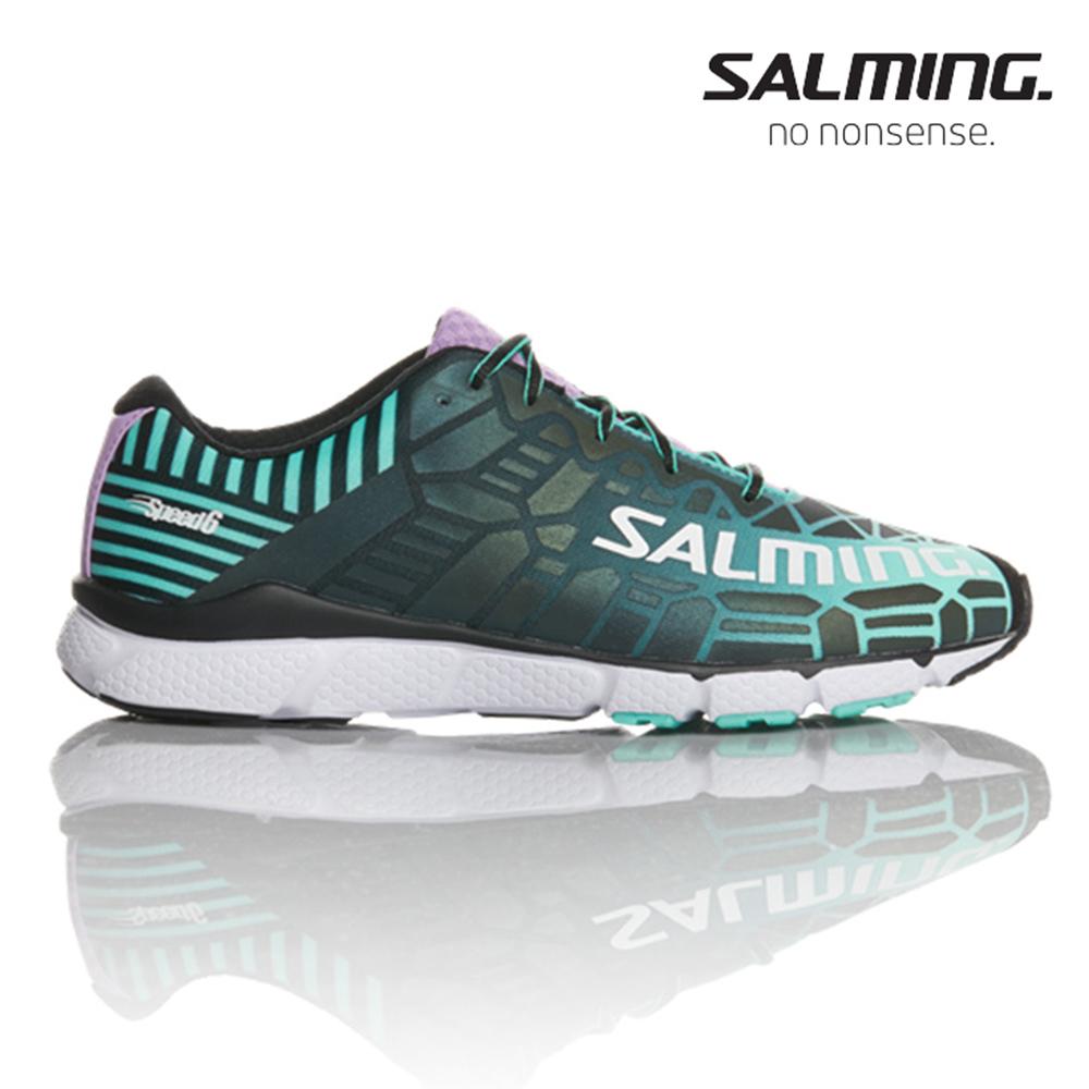 Salming SPEED 6 寬楦 女賽訓慢跑鞋 綠