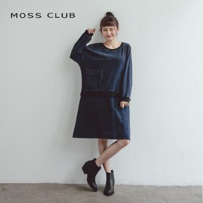 【MOSS CLUB】經典單寧牛仔-連身裙(黑)