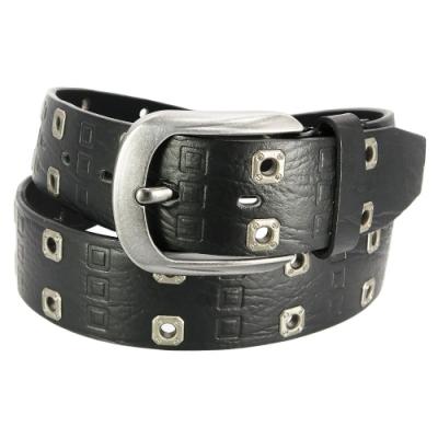 CH-BELT個性鉚釘造型滿分牛仔皮帶腰帶(黑)