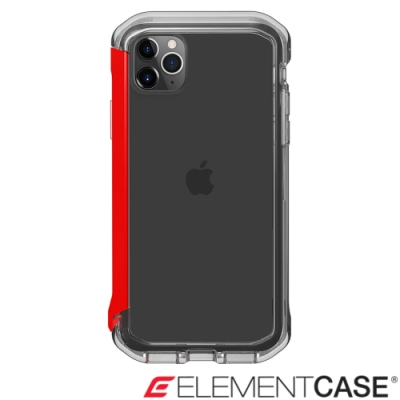美國Element Case iPhone 11 Pro Max Rail 軍規殼-晶透紅