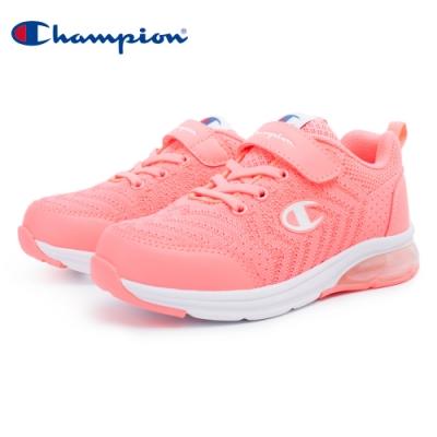 【Champion】ELASTIC NET 氣墊運動童鞋 飛織網布 大童鞋-粉(KSUS-0367-90)