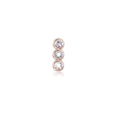 HOURRAE 三顆閃鑽 人氣玫瑰金系列 小飾品