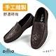 oillio歐洲貴族 男鞋 老師傅手工縫製 頭層牛皮 輕量休閒皮鞋 商務人士必備 豆豆鞋 product thumbnail 1