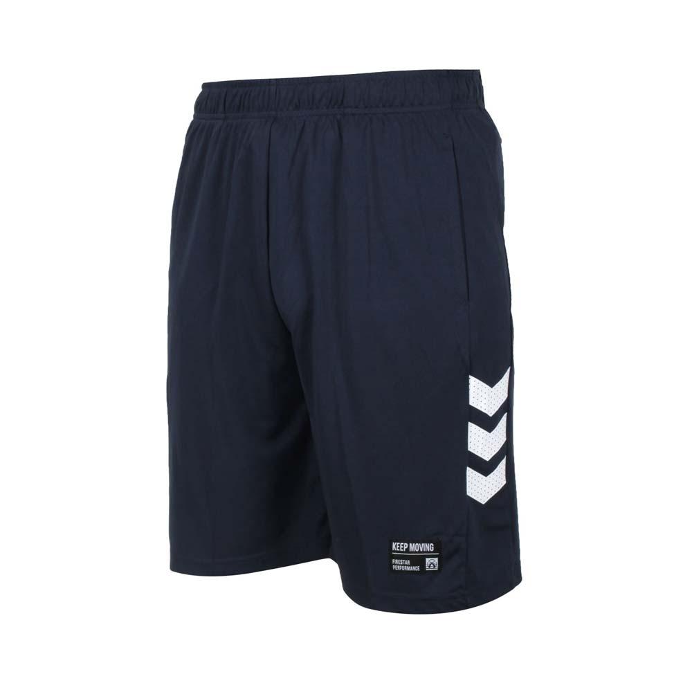 FIRESTAR 男吸排訓練籃球短褲-運動 五分褲 慢跑 路跑 針織 B1701-93 丈青白