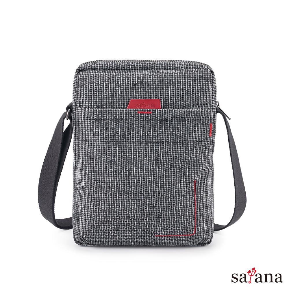 satana - Fresh 輕職人行動側背包 - 黑白小千鳥