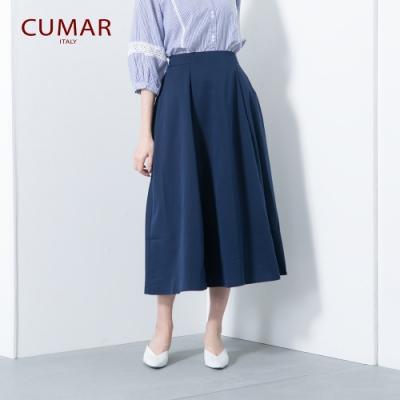 【CUMAR】優雅百搭簡約-長裙(二色/版型適中)