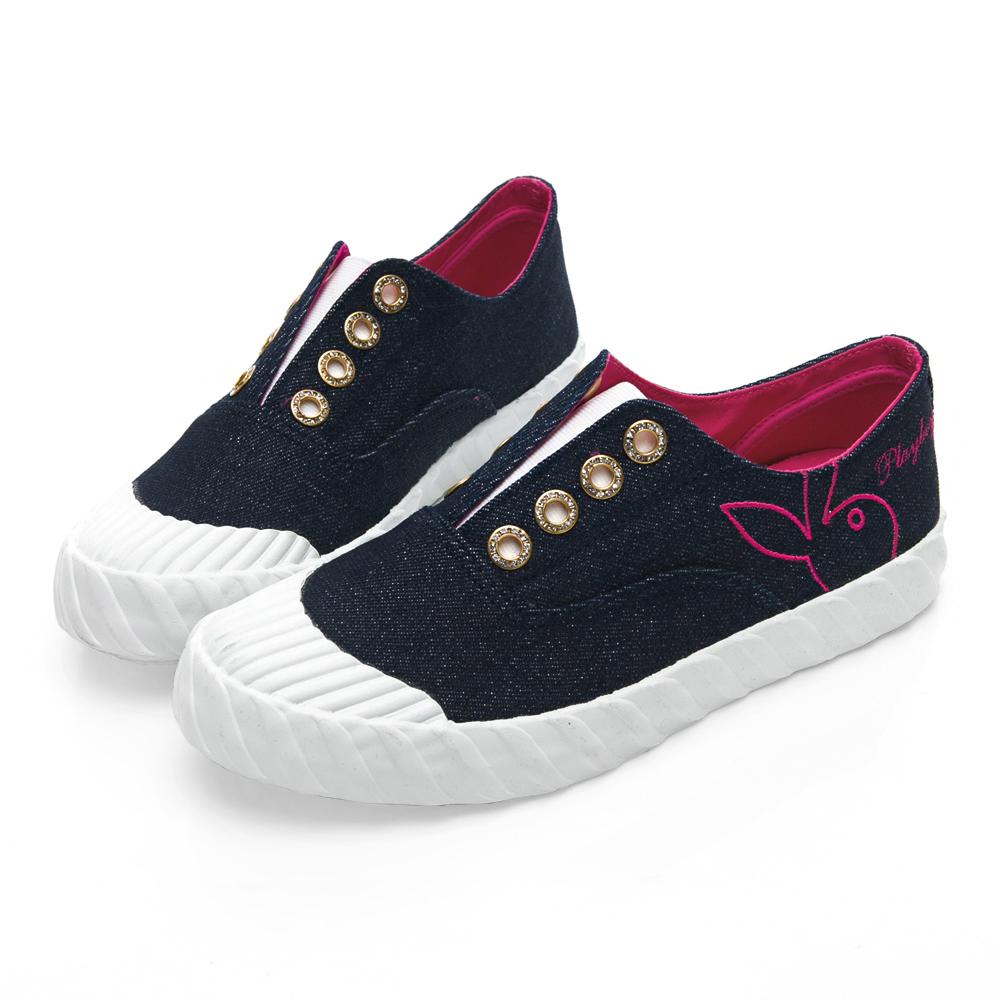 PLAYBOY 亮蔥潮流系餅乾鞋-牛藍-Y5211H7