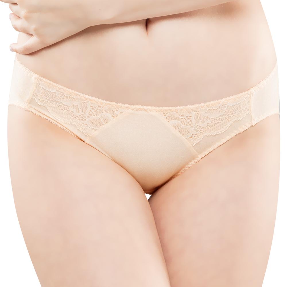 思薇爾 花霓系列M-XL蕾絲低腰三角內褲(煉乳黃)