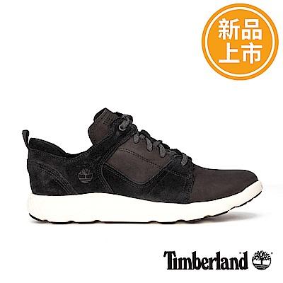 Timberland 男款FlyRoam黑色絨面運動鞋