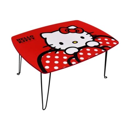 Hello Kitty 凱蒂貓 紅色蝴蝶結 摺疊桌 長桌 和室桌 兒童桌