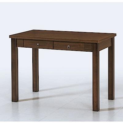 MUNA 艾達3.5尺胡桃色二抽書桌 106X60X75cm