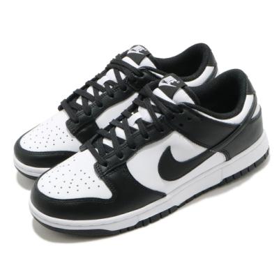 Nike 休閒鞋 Dunk Low 運動 女鞋 經典款 復刻 皮革 質感 簡約 穿搭 白 黑 DD1503101