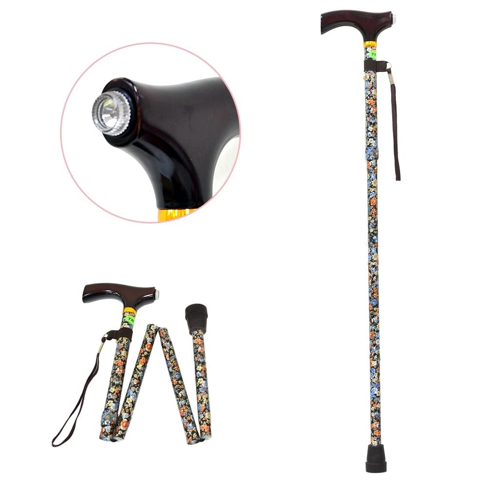 TM305 LED燈鋁合金折疊手杖(顏色隨機出貨)