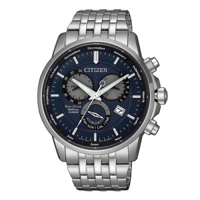 CITIZEN 卓越質感萬年曆光動能腕錶BL8150-86L
