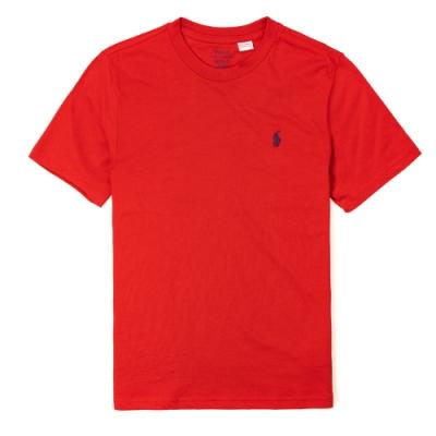 Polo Ralph Lauren 經典小馬圓領T恤(青年款)-紅色
