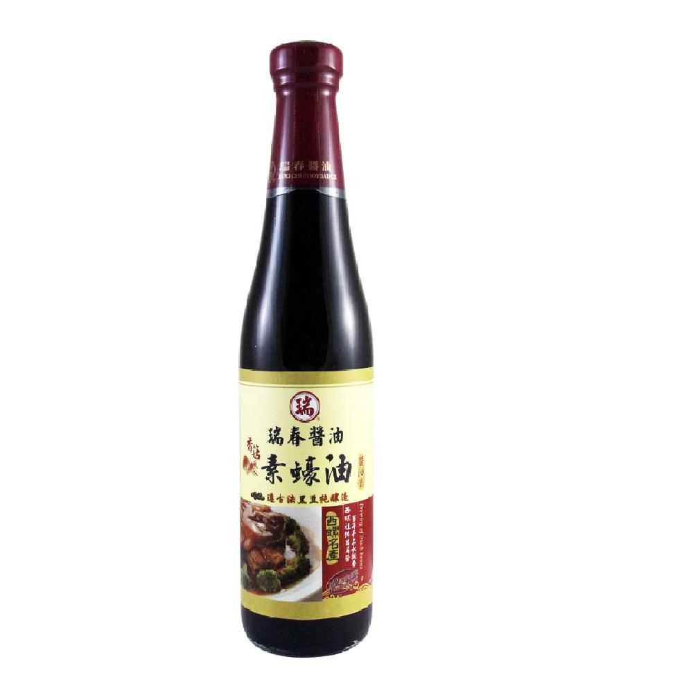 瑞春 香菇風味素蠔油(純素)(十二瓶入/箱)