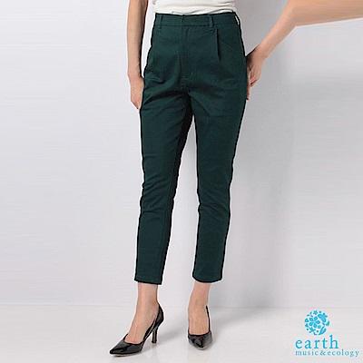earth music 彈力錐形褲-深綠色