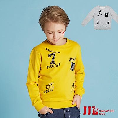 JJLKIDS 英倫時尚拼貼上衣(2色)