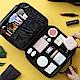 UNIQE豪華多功能隔層分類化妝包 彩妝保養品收納 眼影粉餅刷具唇膏 旅行旅遊 新娘秘書 product thumbnail 1