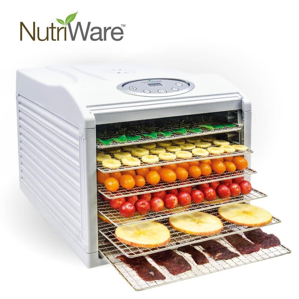 【美國好評款】美國 Nutriware 六層乾果機 果乾機 食物乾燥機 烘乾機 不鏽鋼層架 NFD-815D