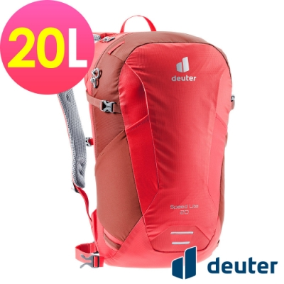 【deuter 德國】SPEED LITE 20L超輕量旅遊背包3410221紅/戶外休閒包/健行包/登山包/攻頂包/單車包*